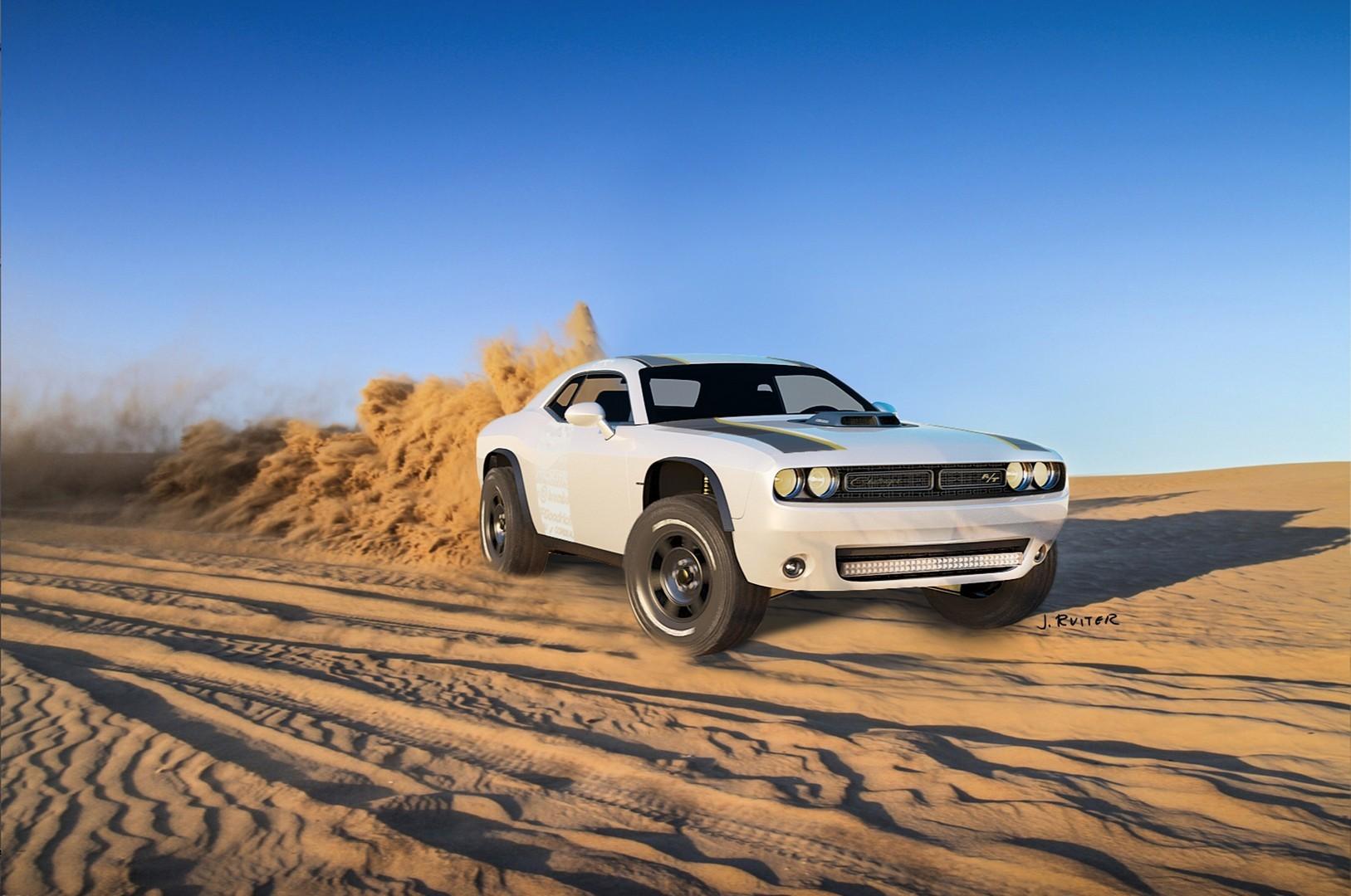 Американская дизайн-студия разрабатывает внедорожник на базе Dodge Challenger