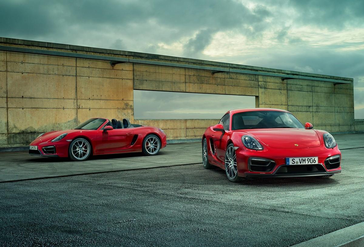 Porsche выпустил GTS-версии моделей Cayman и Boxster
